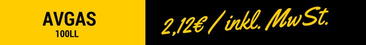 AVGAS 2,09€/L inkl. MWSt.
